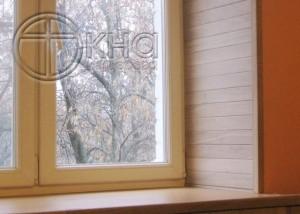 откосы на деревянные окна фото