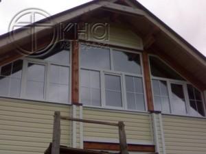 окна на фронтоне мансарды фото